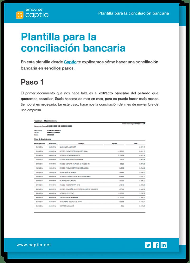 Plantilla conciliacion bancaria